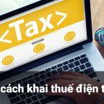 3 cách khai thuế điện tử