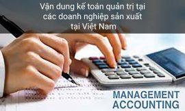 Vận dụng kế toán quản trị tại các doanh nghiệp tại Việt Nam